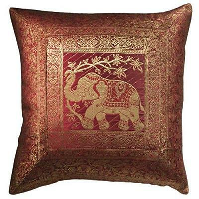 Elephant Design Brocade Cushion Cover  CC69