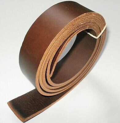 "3.5Mm Thick Italian Brown Veg Tan Leather Hide Belt Blanks 55"" Inch - 140Cm Long"