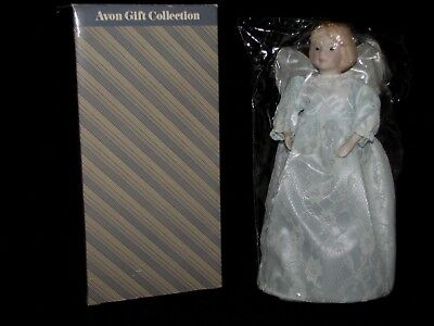 1986 Avon Snow Angel Christmas Tree Topper Porcelain Head and Hands NIB 10 3/4""