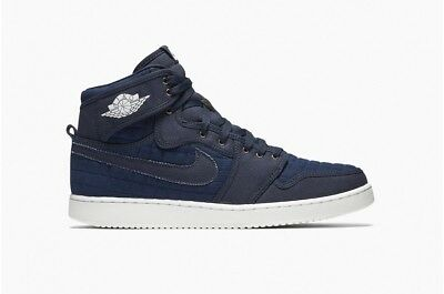 1a52606a320 AIR JORDAN 1 Retro KO AJ1 High OG Obsidian White Red Quilted 638471-403 Size