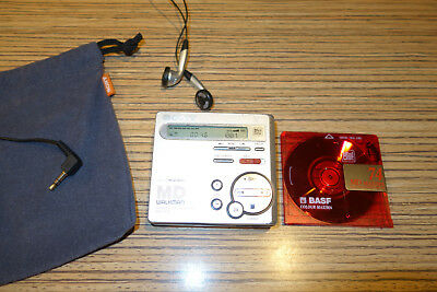 Sony MD  R70 Silber Partner Recrder/Player  Minidisc Walkman (53) +  Sack + Basf