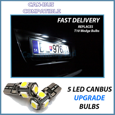 2x Citroen Dispatch Bright Xenon White LED Number Plate Upgrade Light Bulbs