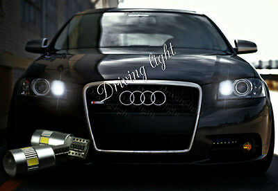 2x T10 LED CREE 6SMD SIDELIGHTS BULBS WHITE XENON CANBUS FREE ERROR AUDI A3 A4