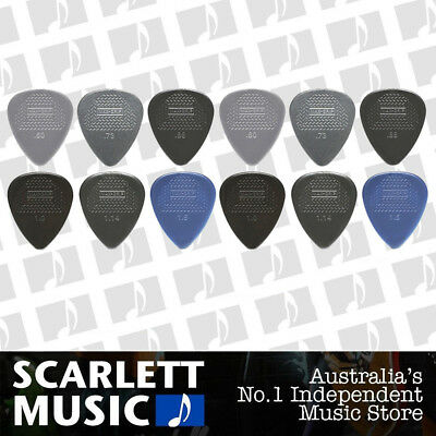 12 X Jim Dunlop Max Grip MIXED Guitar Picks *NEW* Starter Max Grip Set