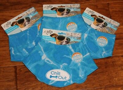 New Afp All For Paws Dog Puppy Cat Pet Chill Out Ultra Cooling Ice Icy Bandana