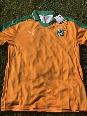 acf52ae3 New PUMA Mens Ivory Coast Home Soccer Jersey Football Shirt Cote D'Ivoire  Orange