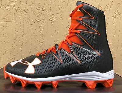 6f119eec3b9 Kids Boys Under Armour AU Highlight RM Jr Football Cleats Size 4Y  Black Orange