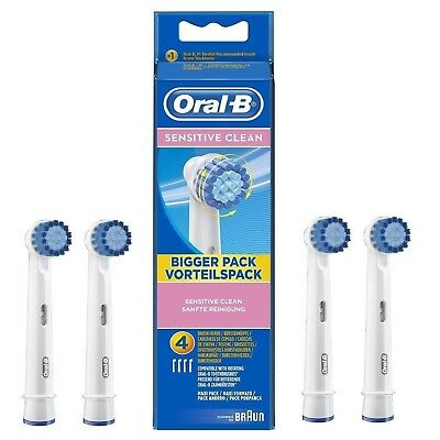 Braun Oral-B Sensitive Clean Electric Toothbrush Heads Replacement 4 Pack