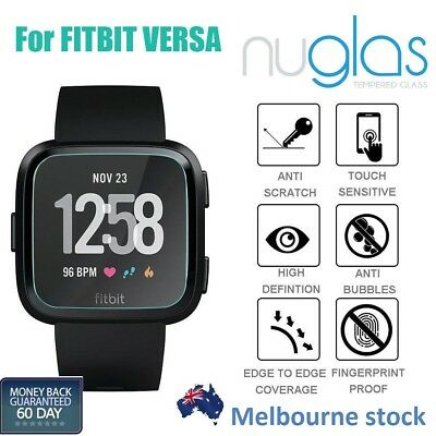 2x Genuine Nuglas Tempered Glass Screen Protector For Fitbit Versa
