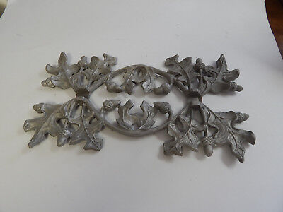 Vintage Antique Pot Metal Bracket Garden Rustic Shelf Architectural pediment