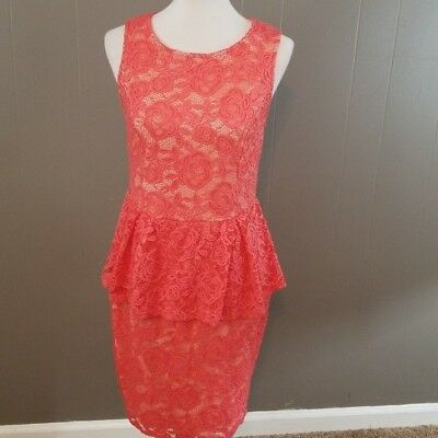 FASHION TO FIGURE plus size coral peplum dress size 0 ...