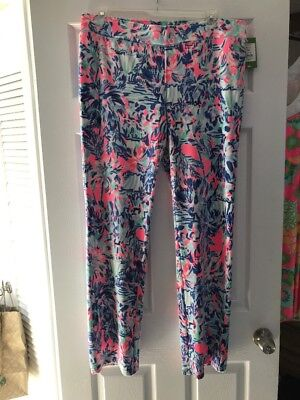 1668ec7fb2b7d2 NWT Lilly Pulitzer Jordynne Velour Lounge Pant Cabana Cocktail Size XL Free  Ship