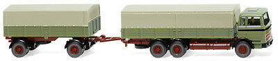 Wiking 043306 Flatbed Trailer (MB) - Reed Green 1:87 (H0)