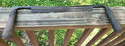 """Antique LAKESIDE 10""""  Wood SHAVE Working DrawknifeDRAW KNIFE HAND TOOL SHAPER"""