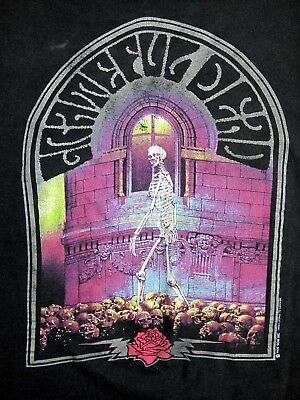 Vtg Grateful Dead 1990 T-shirt Jerry Garcia Dead Head Brockum Tour Band Concert