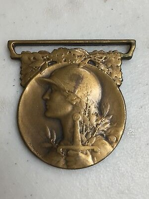 1914-1918 Wwi French Commemorative Medal Of The Great War