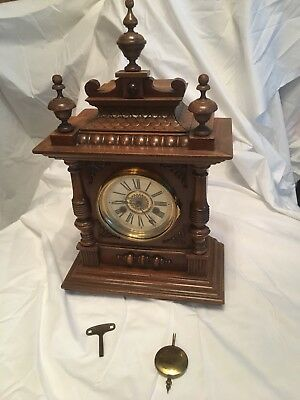 Antique mantle clock made by H.A.C. 14 day Strike early 1900's No 3150 German