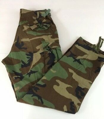 Mens United States Army BUZZ OFF Insect Shield Camo Cargo Pants Sz. Medium