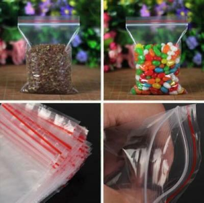 100 Small Clear Plastic Bags Baggy Grip Self Seal Resealable Zip Lock Plastic