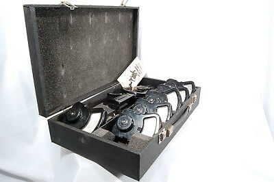 Columbia Electric 7 Piece Ac/Dc Clamp on Tong Test Ammeter w/ case & keys