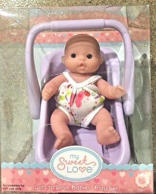 "Berenguer Doll Lots To Love Babies 5"" Mini Nursery PlaySet Carrier 2+ NEW"