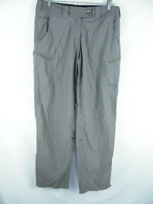 Exofficio Nomad Slate Roll Up Cargo Pants Water Repellent UPF Women's size 6