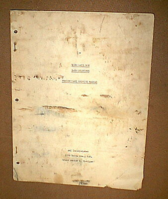 Vintage AMI D-80 Jukebox SERVICE MANUAL for W-80 WALL BOX & S-80 RECEIVER
