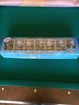 Dallas Cowboys Pint Glass 50th Annoversary Set