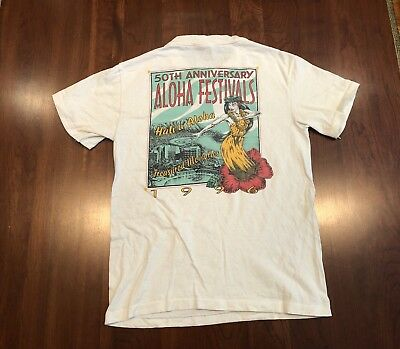 961622f2311e Vintage Hilton Hawaiian Aloha Festivals T-Shirt Sz Small Single Stitched  USA 90s