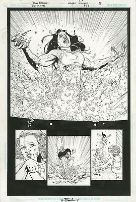 Detective Comics ORIGINAL ART PAGE 17 HALF SPLASH 2007 DC Comics Batman story
