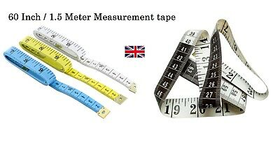 """Quality Multi use Soft Body Measuring Ruler Sewing Tailor Tape Flat 60"""" /150 CM"""