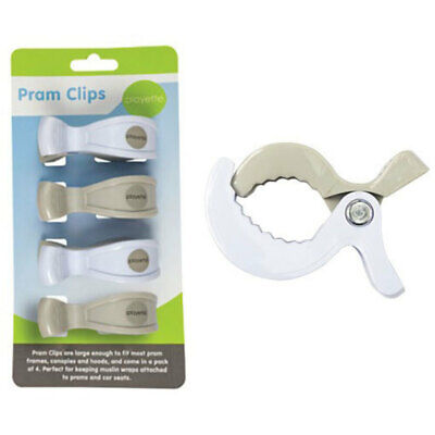 4PC Playette Baby Clips/Pegs Mount Frame for Cot/Toys/Stroller/Pram/Canopy/Hood
