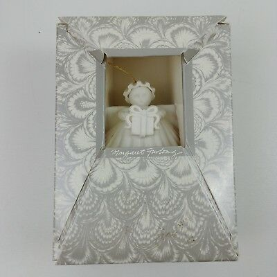 ib Margaret Furlong Collectible Ornament Angel with Present 1991 In Box