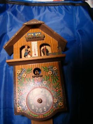 Vintage Cuckoo Clock with Weather, made in Germany   Needs Repair