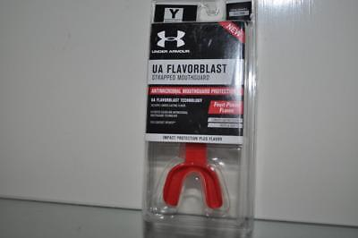 Under Armour Strapped Mouthguard UA Flavorblast Fruit Punch Flavor Adult Age 12+