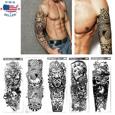 6Pcs Henna Tattoo Stickers Black Lace Temporary Tattoos for Teens&Girls Women