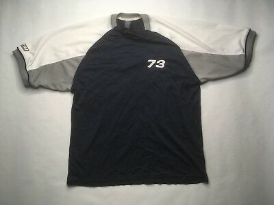 Tommy Hilfiger Jeans Mesh Jersey, Blue White, Number 73, Large, Rare! S