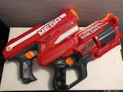 NERF Cycloneshock and Magnus Strike MEGA Blaster Elite Gun Dart Toy Kids