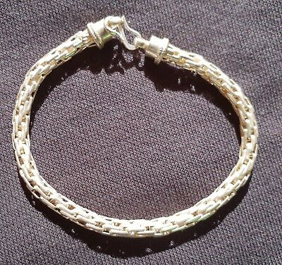 Woven (Thick) Design Bracelet Hand Crafted Silver 92.5 (New)