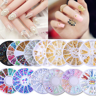 Nail Art 3D Bijoux Ongle Déco Glitter Strass Cristal Fimo Gel UV Tips DIY