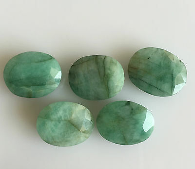 46.54 Ct 5Pc Natural Emerald Oval Cut Lot Loose Gemstones Green Brazil 16 X 13Mm