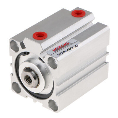 Thin Air Cylinder Series SDA40 Cylinder Double Action Bore 40mm SDA40X40