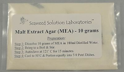 Malt Extract Agar (MEA) 10 grams - Great For Growing Mushrooms! - FREE SHIPPING