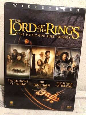 The Lord of the Rings The Motion Picture Triology Widescreen PLEASE READ DESC