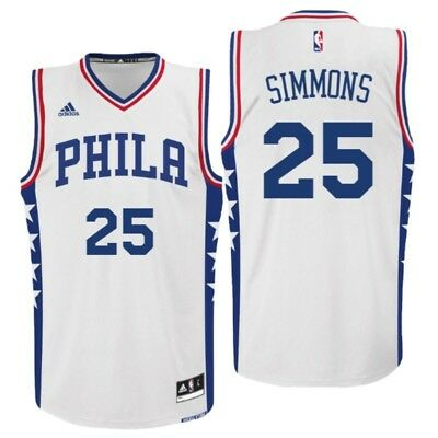 new concept 8e3f8 afd9b PHILADELPHIA 76ERS #25 Ben Simmons Jersey Size Large ...