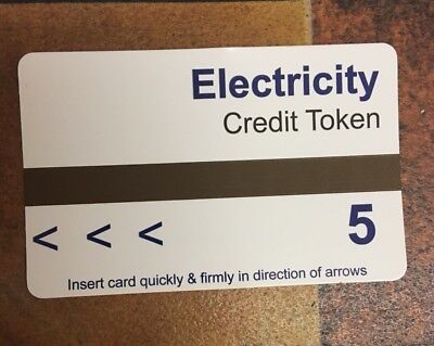 Stack Of AMPY Electric Meter Cards // Tokens //credit  £5 Cards