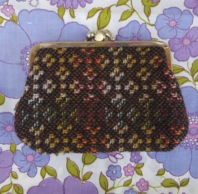 VINTAGE Welsh wool Wallet Purse 1960s 1970s purse Retro B M