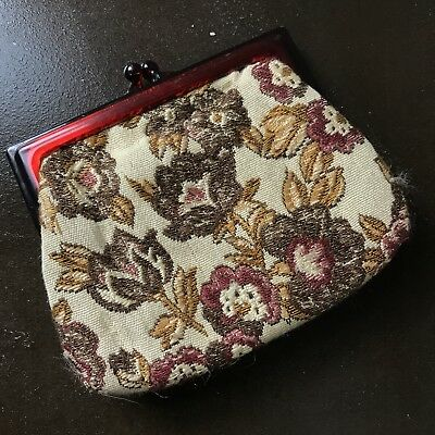 VINTAGE Tapestry Brocade Wallet Purse 1960s 1970s purse Retro M