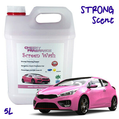 Screen Wash with Gorgeous Scents 5L.  Passengers & Kids love it, lots of choices