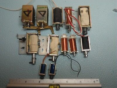 Electromagnetic Actuators 12 off Assorted Sizes and Voltages All Good Condition